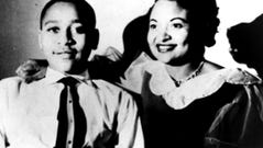 This undated family photograph taken in Chicago, shows Mamie Till Mobley and her son, Emmett Till, whose lynching in 1955 became a catalyst for the civil rights movement.