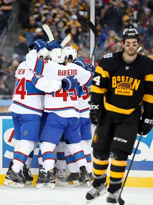 The Montreal Canadiens defeated the Boston Bruins 4-1 in the Winter Classic at Gillette Stadium.