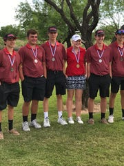 Garden City's Trent McMillan, Zach Burnett, Hagan Halfmann, Logan Wood, Scott Miller and Dakota Roberts are UIL State Golf Tournament qualifiers. Wood, a freshman, finished eighth in the girls competition April 16. The boys team plays Monday, May 22, in Austin.