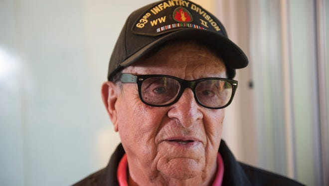 World War II vet Amedeo Petrongolo of Berlin Borough is decorated with a Bronze Star, Presidential Unit Citation for the 253rd infantry, 2nd battalion, two purple hearts and a French freedom medal. On Friday he will go to New York City to receive a higher French honor, the Legion of Honor of France, for serving on French soil to free the French from German occupation. Tuesday, November 4, 2015.