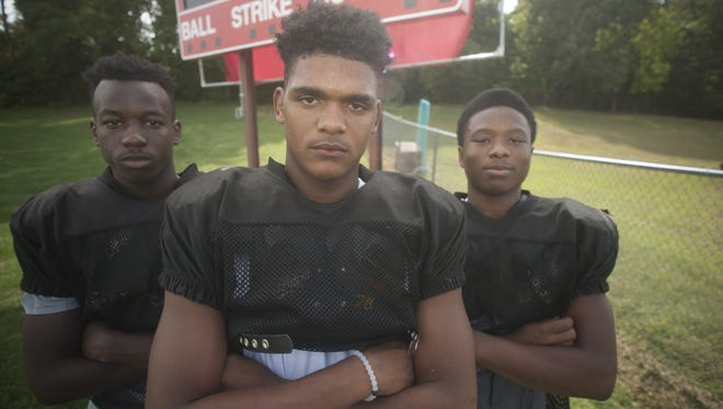 From left,  wide receiver Andrew Goshine, quarterback Shaun Davila and running back Rashad Raymond have led Cinnaminson's offense to a hot start this season.