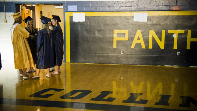 Students gather in the Collingswood High School gym before commencement in this file photo. Woodlynne is exploring whether to continue its send-receive relationship with the school.