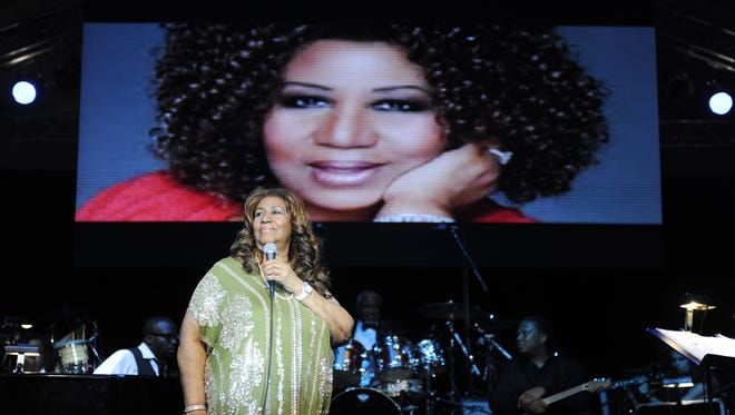 Aretha Franklin performs during the Swan Ball at Cheekwood Mansion June 9, 2012 in Nashville.