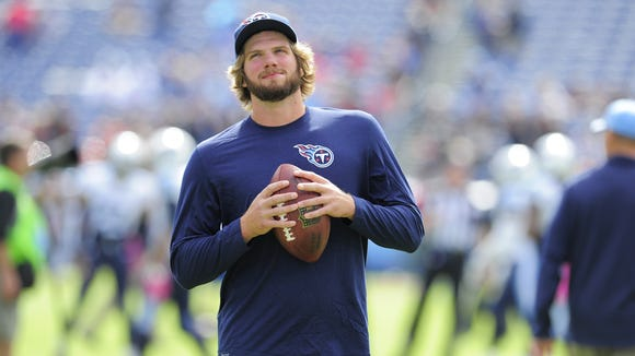 Titans rookie quarterback Zach Mettenberger has only played briefly in one game this season.