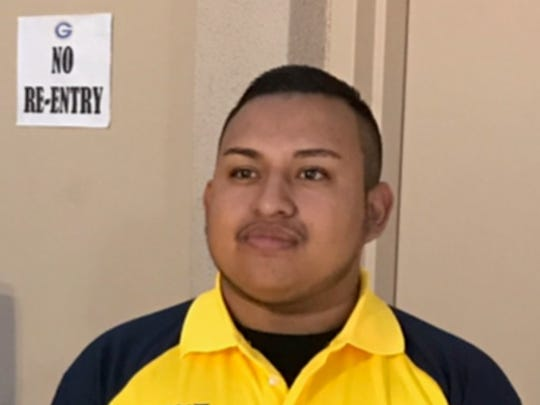 Erick Silva, 21, a security guard working at the Route