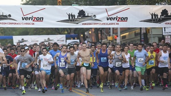 Hundreds of runners turned out for the 2014 Verizon