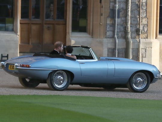 Prince Harry and his bride, the former Meghan Markle,