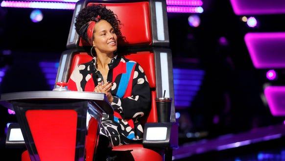 Alicia Keys sitting pretty.