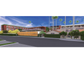 The Orchid Tree Inn is proposed as a redevelopment of the Palm Springs Community Church and the adjoining bungalows. This sketch shows the hotel entrance.