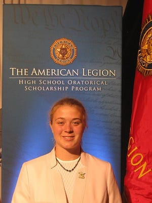 Kayla Maupin, a senior at Mountain Home High School, recently traveled to Indianapolis to compete in the 2016 National American Legion High School Oratorical Scholarship Program:  A Constitutional Speech Contest.