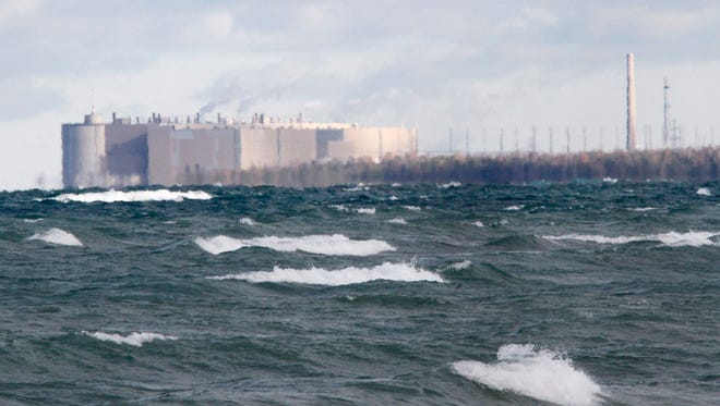 The Ontario Power Generation Bruce nuclear facility can be seen from a local beach off Lake Huron in Kincardine, Ont. on Thursday, Oct. 17, 2013.