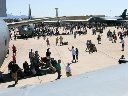 People attend the Luke Air Force Base Air Show at Luke