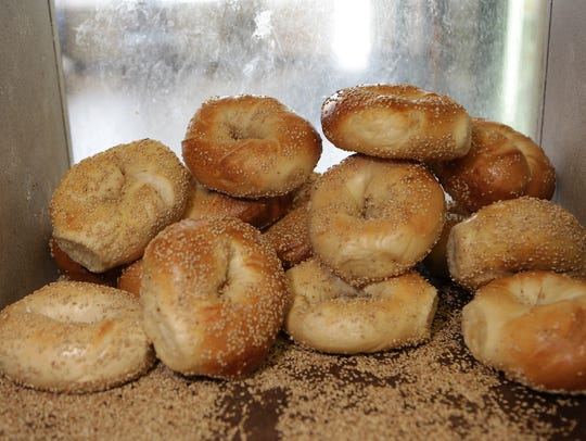 Homemade bagels at Nyack Hot Bagels and Deli in West