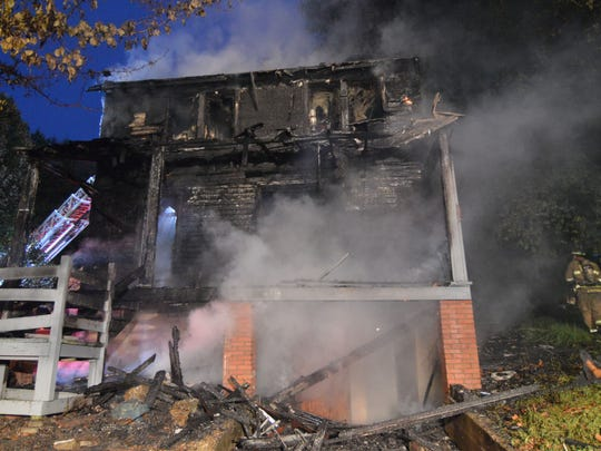 Fire heavily damaged a home early Tuesday morning in Christiana.
