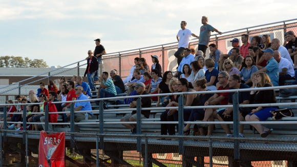 Fans at Somers watch the Tuskers against Lakeland on
