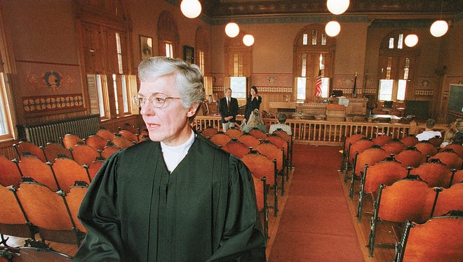Judge Reck in the room where she has convened court for a long time.