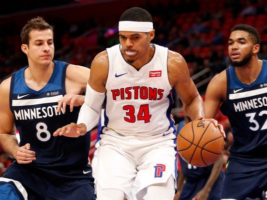 NBA: Minnesota Timberwolves at Detroit Pistons