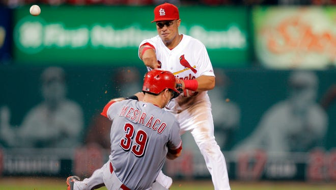 Devin Mesoraco was out of the Reds' lineup Wednesday.