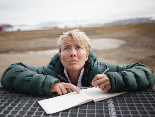 Emma Thompson in the Arctic with Greenpeace