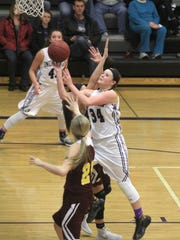 Indianola junior Haley Vesey puts up a shot. Class 5-A fifth-ranked Indianola beat Ankeny 52-47 in Indianola on Dec. 15.