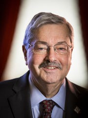 Iowa Gov. Terry Branstad photographed Wednesday Jan. 7, 2014 at his ceremonial formal office in the Iowa Statehouse in Des Moines, Iowa.