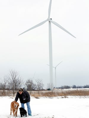 Joan Lagerman of Malone lives near a 44-turbine wind farm. She said the low-frequency noise emitted by the spinning turbines cause her headaches and restless nights.