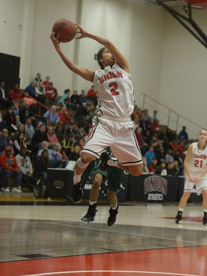 Union freshman Jada Smith, shown here earlier this season, scored 26 points Saturday in a win over UAH.