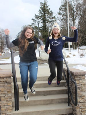 Penn State York students Julia Byerly, left. and Alyssa Zelwalk will be dancing at Penn State's THON, a 46-hour dance marathon to raise money for pediatric cancer.