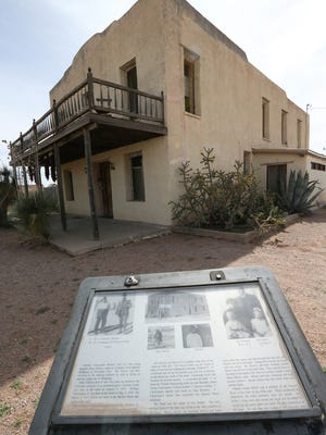 Fighting during Villa's raid took place around the former Hoover Hotel. According to the historical marker, Bessie James, the only female to die in the raid was killed at the West entrance to the hotel.