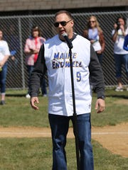 Maine-Endwell graduate Thomas Tull at Maine-Endwell Little League opening day parade and ceremonies in 2016. Billionaire Tull is a minority owner of the Pittsburgh Steelers.