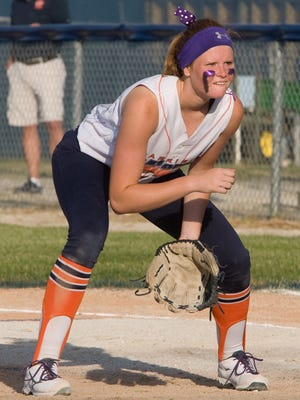 Pitcher Jade Johnson and Harrison suffered a tough loss Tuesday.