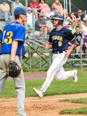 Parker Hendershot comes in to score for Tioga.