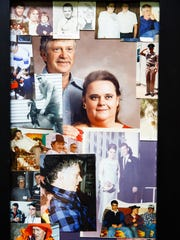 Old family photos of her and her late husband Glen hang on Diane Davis' wall on Friday, September 2, 2016 in Oskaloosa.
