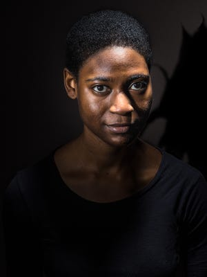 "Kearston Hawkins-Johnson plays Dragon Girl in Know Theatre of Cincinnati's production of ""Dragon Play."""