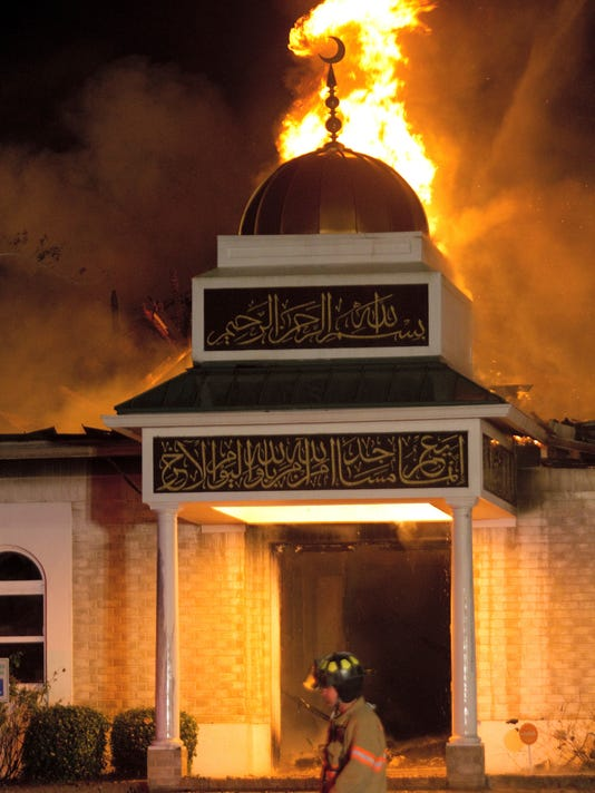 Islamic Center fire - ONE USE ONLY
