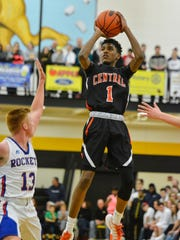 Central York's Courtney Batts scored 12 points on Tuesday