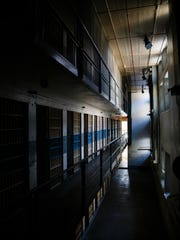 One of the old cell blocks at the closed Iowa State Penitentiary at Fort Madison.