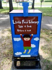 One of Jackson's Little Free Libraries is located in