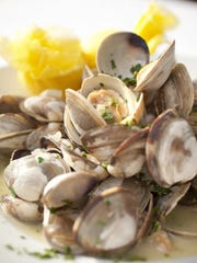 Steamed little neck clams.