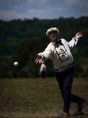 A pitcher from the Athletic vintage baseball club of