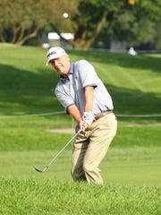 Kevin Sutherland shot 5-under Saturday and was tied for the lead at 12-under.