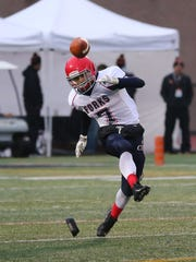 Dan Crowningshield sends a boot during Chenango Forks' victory Saturday over Cheektowaga.