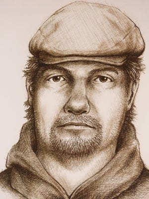 A sketch released by police Monday, July 17, of a man believed to be connected to murder of Liberty German and Abigail Williams last February.