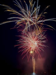 Independence Day fireworks celebration at Springettsbury
