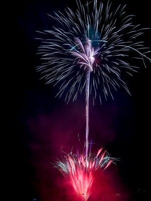 Independence Day fireworks celebration at Springettsbury Park, Sunday, July 1, 2018. John A. Pavoncello