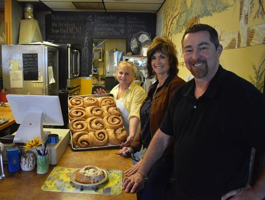 Country Kitchen baker Claudia Price, left, owner Lin