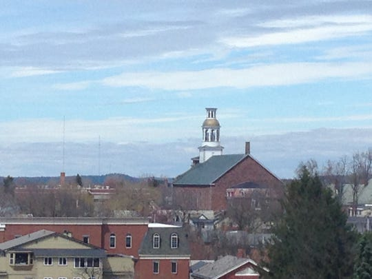 St. Joseph's Co-Cathedral rises above other buildings