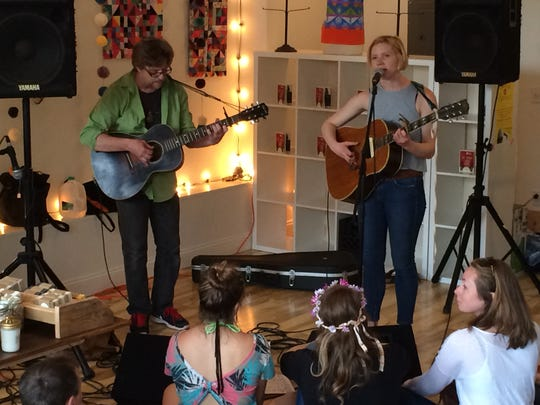 Maryse Smith and Michael Chorney played for a crowd