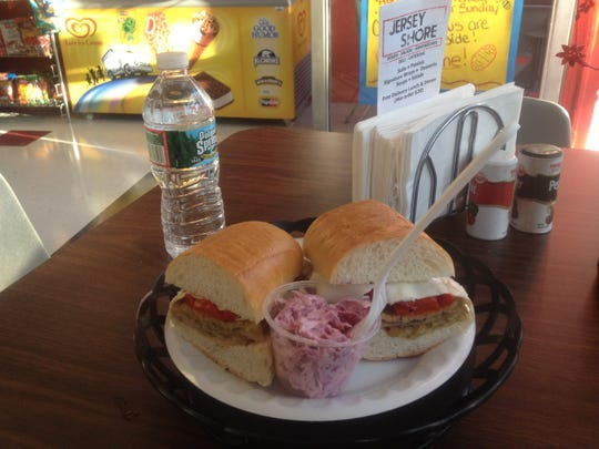 A variation on the Snooki Specialty at Jersey Shore Subs and Soups in Keyport.