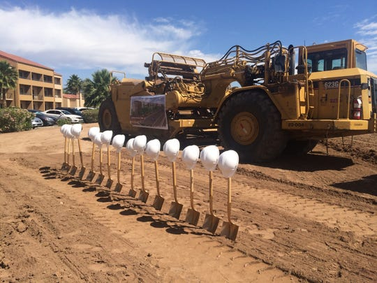 A groundbreaking ceremony for Southern Avenue Villas in Mesa's Fiesta District was held Wednesday, May 6, 2015.
